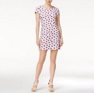 Maison Jules | Strawberry Print Dress White New